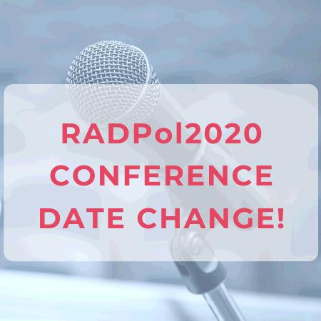RADPol 2020 - conference date change
