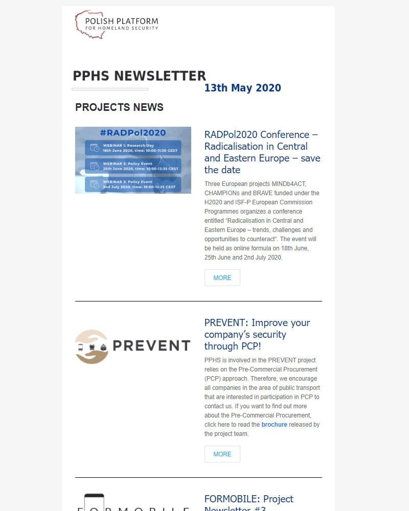 PPHS Newsletter - May 2020