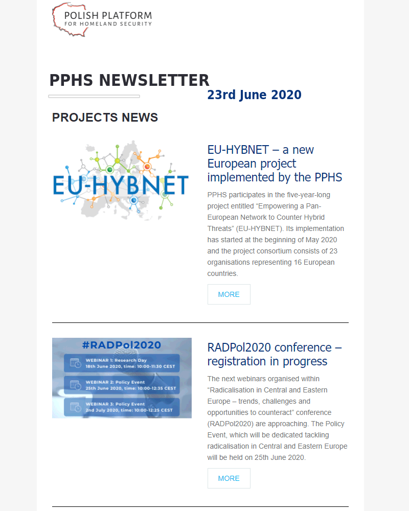 PPHS newsletter - June 2020