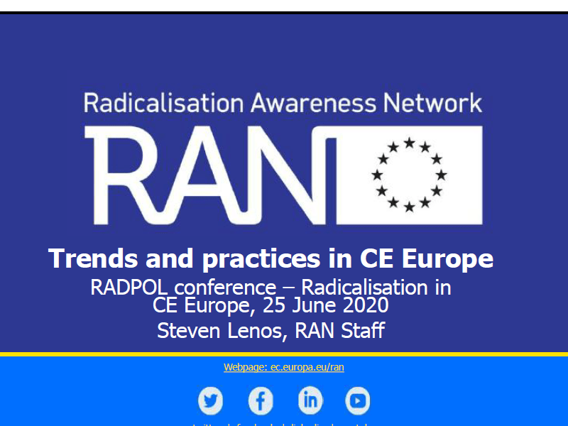 RADPol2020 Webinar 2 - Radicalisation Awareness Network