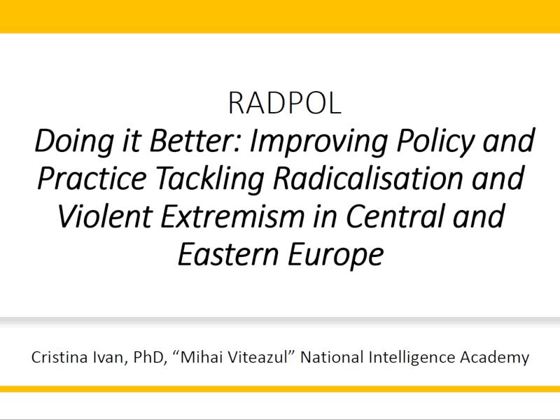 "RADPol2020 - Webinar 3 - ""Mihai Viteazul"" National Intelligence Academy - thumbnail"
