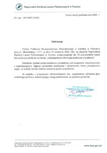 Referencje - Regionalna Dyrekcja Lasów Państwowych w Toruniu