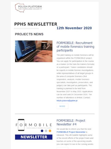 PPHS newsletter - November 2020