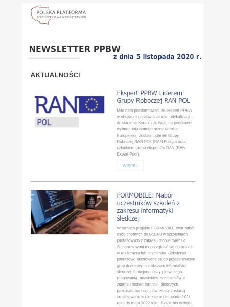 Newsleter PPBW - listopad 2020