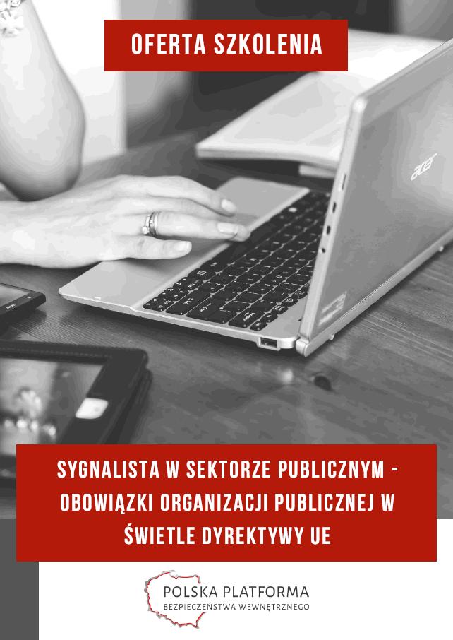 Oferta i program szkolenia nt. sygnalistów - thumbnail