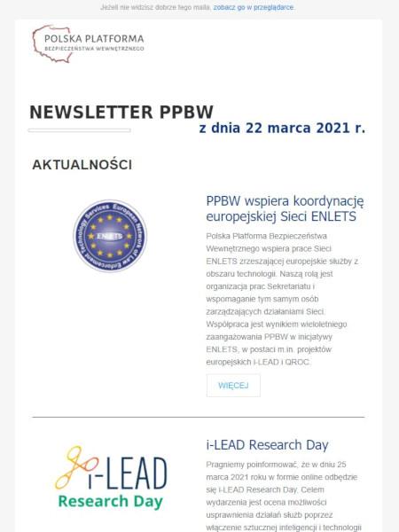 PPBW newsletter - Marzec 2021
