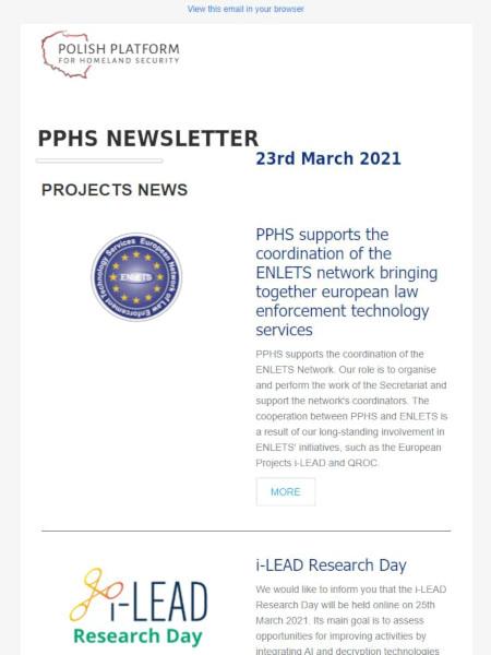 PPHS newsletter - March 2021