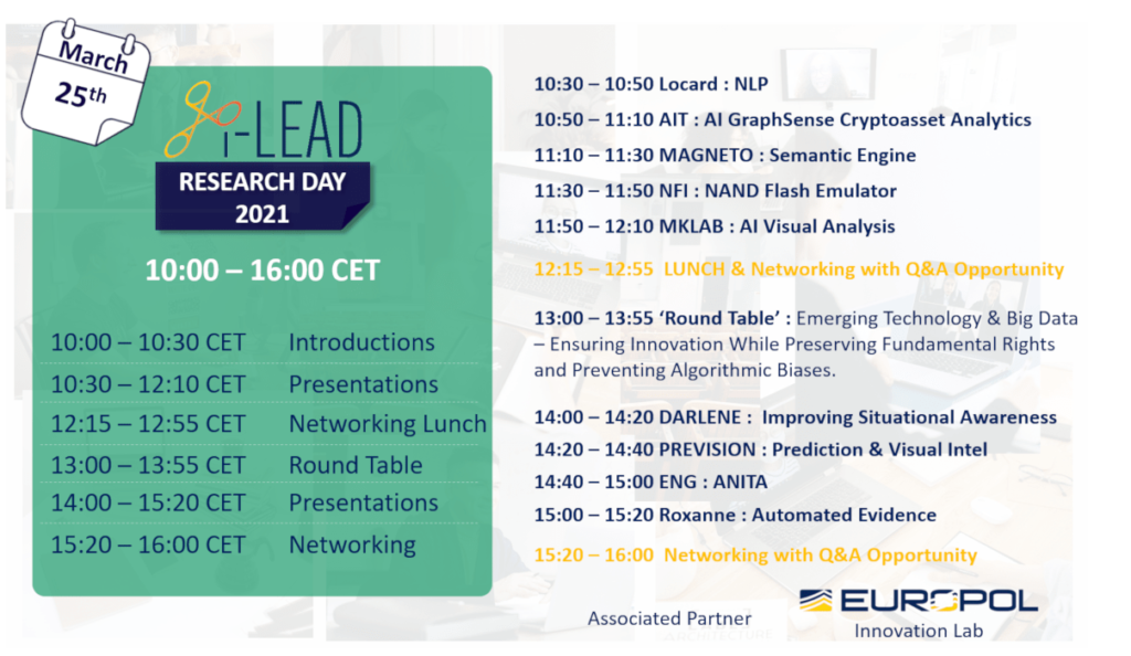 i-LEAD Research Day 2021 - Agenda